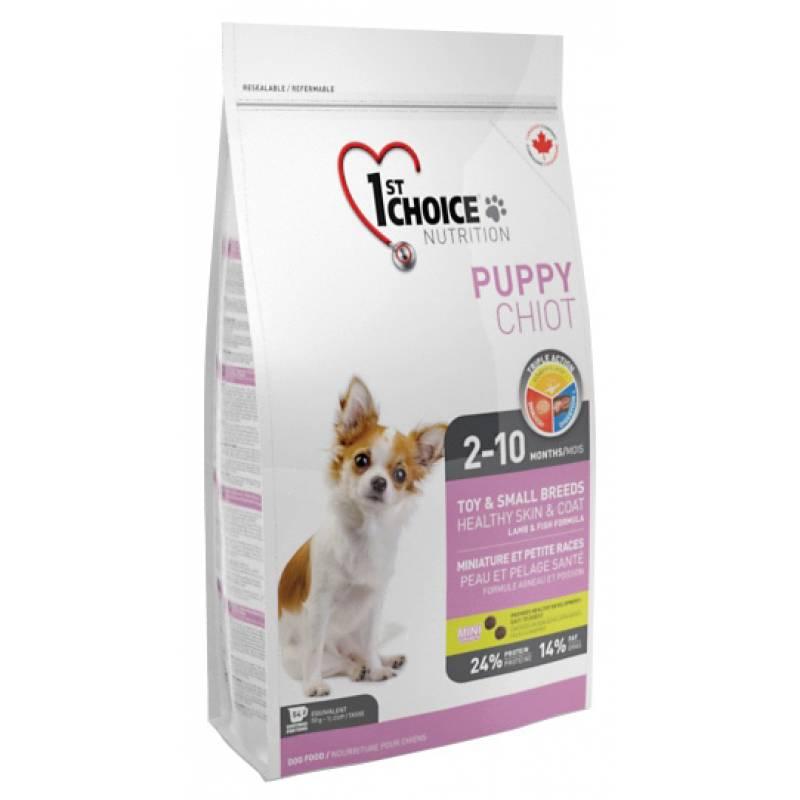 1st Choice Puppy сухой корм для щенков декоративных пород с ягненком, рыбой и рисом - 2,72 кг