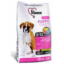 1st Choice Puppy сухой корм для щенков с чувствительной кожей и для шерсти с ягненком, рыбой и рисом - 2,72 кг (6 кг) (14 кг)