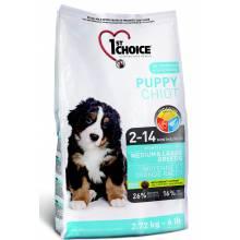1st Choice Puppy сухой корм для щенков средних и крупных пород с курицей - 2,72 кг (7 кг) (15 кг)
