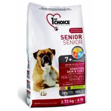 1st Choice Senior сухой корм для пожилых собак с чувствительной кожей и для шерсти с ягненком, рыбой и рисом - 2,72 кг (12 кг)