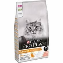 Pro Plan Cat Adult Elegant сухой корм для взроослых кошек для кожи и шерсти с лососем 400 г (1,5 кг) (10 кг)