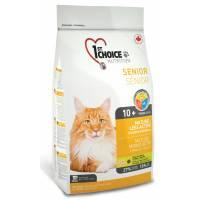 1st Choice Mature or Less Active сухой корм для стареющих и малоактивных кошек с цыпленком 0,35 (2,72 кг) (5,44 кг)