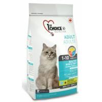 1st Choice здоровая кожа и шерсть сухой корм для взрослых кошек с лососем - 0,35 кг (0,91 кг) (2,72 кг) (5.44 кг)