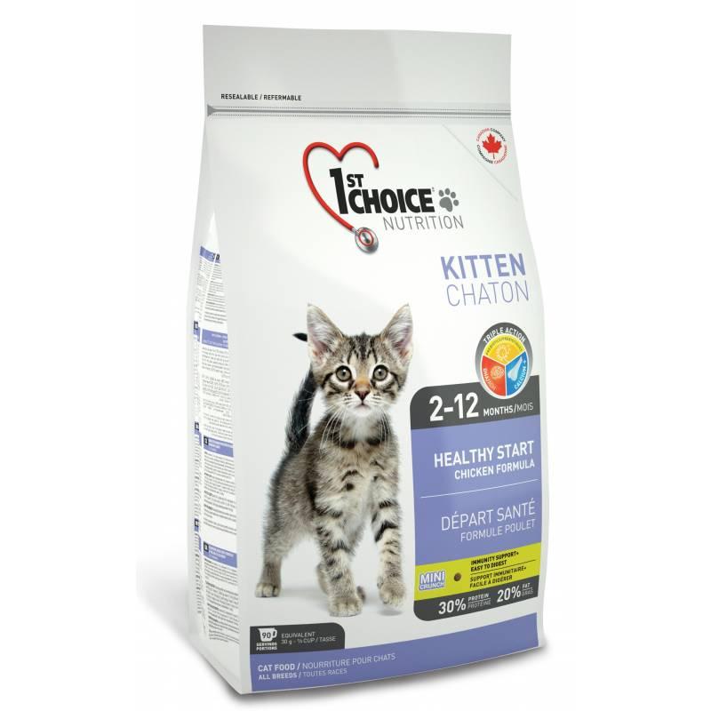 1st Choice сухой корм для котят здоровый старт с цыпленком 0,35 кг (0,91 кг) (2.72) (5,44 кг) (10 кг)