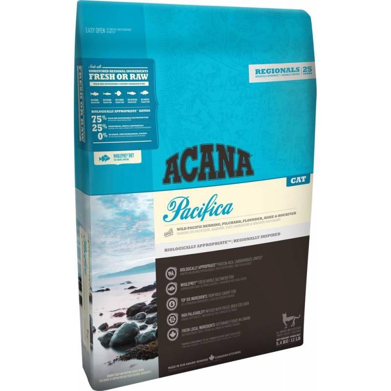 Acana Pacifica Cat & Kitten All Breeds Fish для котят и кошек всех пород с рыбой 340 гр (1,8 кг) (5,4 кг)