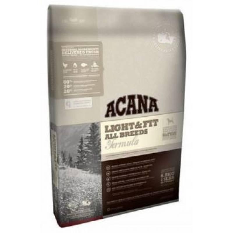 Acana Heritage Light & Fit для собак с избыточной массой тела с цыпленком и индейкой 2 кг  (6 кг) (11,4 кг)