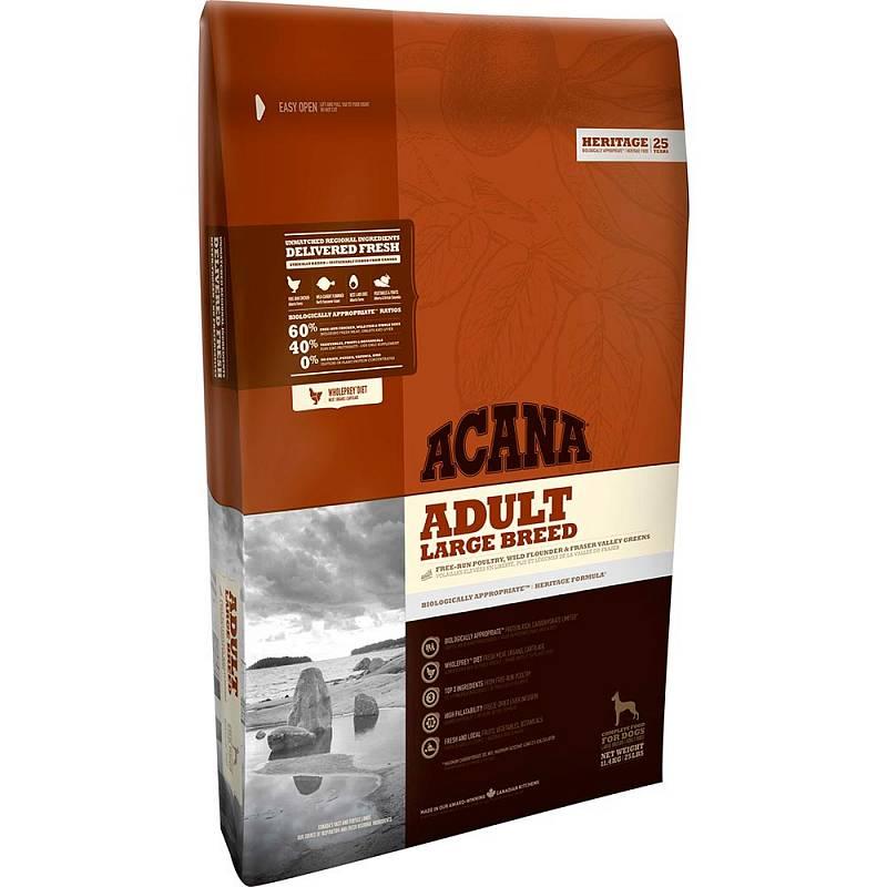 Acana Heritage Adult Large Breed для взрослых собак крупных пород с цыпленком 11,4 кг (17 кг)