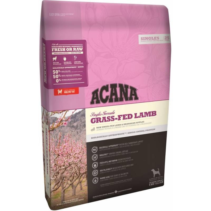 Acana Grass-Fed Lamb Dog All Breeds корм для собак всех пород и возрастов с ягненком 2 кг (6 кг) (11,4 кг) (17 кг)