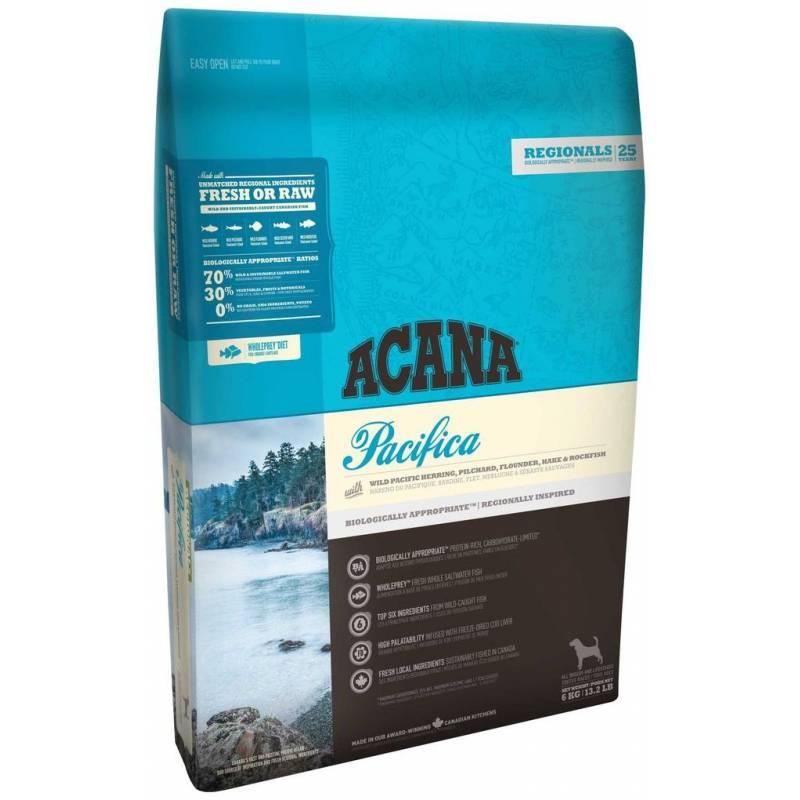 Acana Wild Pacifica Dog All Breeds Wild-Caught Fish для собак всех пород и возрастов с рыбой 2 кг (6 кг) (11,4 кг)