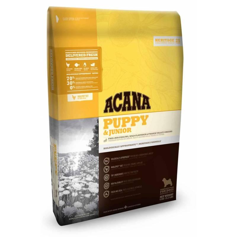 Acana Heritage Puppy & Junior для щенков средних пород с цыпленком 2 кг (6 кг) (11,4 кг) (17 кг)