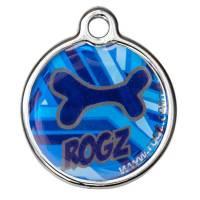 Адресник на ошейник для собак ROGZ Fancy Dress Синий S - 27 мм