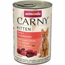 Консервы Animonda Carny Kitten с говядиной и сердцем индейки для котят - 400 гр х 6 шт