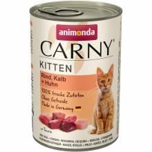 Консервы Animonda Carny Kitten с говядиной, телятиной и курицей для котят - 400 гр х 6 шт