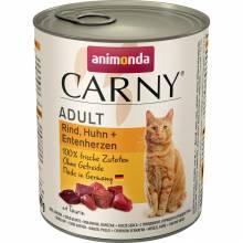 Animonda Carny влажный корм для взрослых кошек с говядиной, курицей и уткой - 800 г х 6 шт