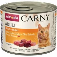 Animonda Консервы Carny Adult с говядиной и курицей для взрослых кошек всех пород - 200 гр х 6 шт