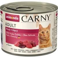 Animonda Консервы Carny Adult с говядиной и сердцем для взрослых кошек всех пород - 200 гр х 6 шт