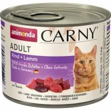 Animonda Консервы Carny Adult с говядиной и ягненком для взрослых кошек всех пород - 200 гр х 6 шт