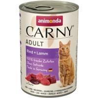 Animonda Консервы Carny Adult с говядиной и ягненком для взрослых кошек всех пород - 400 гр х 6 шт