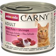 Animonda Консервы Carny Adult с индейкой и креветками для взрослых кошек всех пород - 200 г х 6 шт