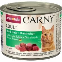 Animonda Консервы Carny Adult с индейкой и кроликом для взрослых кошек всех пород - 200 гр х 6 шт