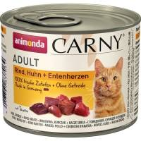 Animonda Консервы Carny Adult с курицей и уткой для взрослых кошек всех пород - 200 гр х 6 шт