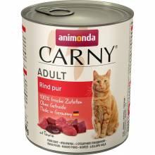 Animonda Консервы Carny Adult с отборной говядиной для взрослых кошек всех пород - 400 г х 6 шт