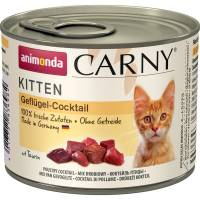 Animonda Консервы Carny Kitten коктейль из мяса птицы для котят - 200 гр х 6 шт