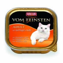 Animonda Консервы Vom Feinsten Adult с домашней птицей и телятной для взрослых кошек любой породы - 100 гр х 32 шт