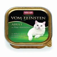 Animonda Консервы Vom Feinsten Adult с индейкой и кроликом для взрослых кошек - 100 гр х 32 шт