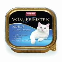 Animonda Консервы Vom Feinsten Adult с лососем и креветками для взрослых кошек - 100 гр х 32 шт