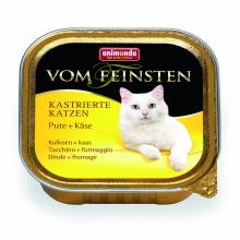 Animonda Консервы Vom Feinsten for castrated cats для кастрированных кошек с индейкой и сыром - 100 гр х 32 шт