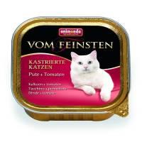 Animonda Консервы Vom Feinsten for castrated cats для кастрированных кошек с индейкой и томатами - 100 гр х 32 шт