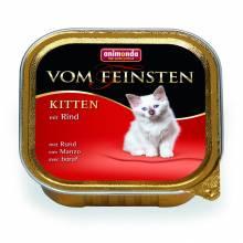 Animonda Консервы Vom Feinsten Kitten с говядиной для котят любых пород - 100 гр х32 шт