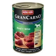 Консервы Animonda Gran Carno Original Adult с говядиной и дичью для взрослых собак - 400 гр х 6 шт