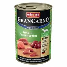 Консервы Animonda Gran Carno Original Adult с говядиной и сердцем утки для взрослых собак - 400 гр х 6 шт