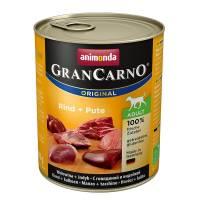 Animonda GranCarno консервы для взрослых собак с говядиной и индейкой для взрослых собак - 800 г х 6 шт