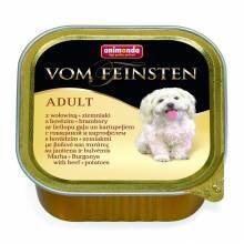 Animonda Vom Feinsten Adult / Анимонда Вомфейнштейн Эдалт для собак с говядиной и картофелем - 150 гр х 22 шт