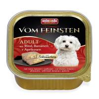 Консервы Animonda Vom Feinsten Adult Меню для гурманов с говядиной, бананом и абрикосами для взрослых привередливых собак - 0,15 кг х 32 шт