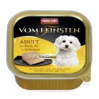 Консервы Animonda Vom Feinsten Adult Меню для гурманов с говядиной, яйцом и ветчиной для взрослых привередливых собак - 0,15 кг х 32 шт