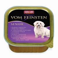 Animonda Vom Feinsten Senior / Анимонда Вомфейнштейн Сеньор с мясом домашней птицы и ягненком для собак старше 7 лет - 150 гр х 22 шт