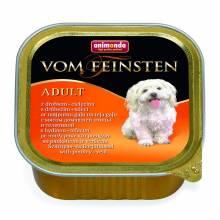 Animonda Vom Feinsten Adult / Анимонда Вомфейнштейн Эдалт для собак с мясом домашней птицы и телятиной - 150 гр х 22 шт