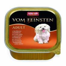 Animonda Vom Feinsten Adult / Анимонда Вомфейнштейн Эдалт для собак с кроликом - 150 гр х 22 шт