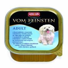 Animonda Vom Feinsten Adult для собак с курицей и сайдой - 150 гр х 22 шт