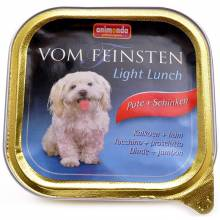 Animonda Vom Feinsten Light Lunch / Анимонда Вомфейнштейн Лайт Ланч для собак с индейкой и ветчиной - 150 гр х 22 шт