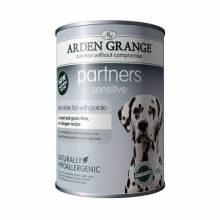 Arden Grange Fish & Potato для взрослых собак всех пород с чувствительной кожей и системой пищеварения - 6 шт. х 395 г