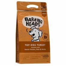 Barking Heads Top-Dog Turkey сухой беззерновой корм для взрослых собак с индейкой и бататом- 2 кг (12 кг)