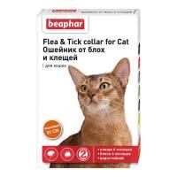 Ошейник Beaphar New Diaz для кошек старше 6 месяцев от блох и клещей оранжевый 35 см