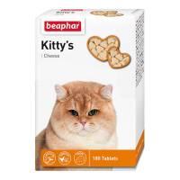 Beaphar Kitty's Cheese витаминизированное лакомство-сердечки для кошек с сыром - 180 таблеток