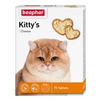 Beaphar Kitty's Cheese витаминизированное лакомство-сердечки для кошек с сыром - 75 таблеток