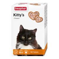 Beaphar Kitty's витаминизированное лакомство-сердечки для кошек с протеином - 180 таблеток